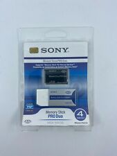 4GB Sony PSP Memory Stick Pro Duo Card With Adapter | MSX-M4GS | Magic Gate