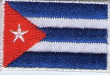 écusson ECUSSON PATCHE PATCH THERMOCOLLANT DRAPEAU CUBA DIMENSIONS 4,5 X 3 CM