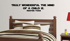 Yoda quote mind of a child Star Wars vinyl wall lettering quote decal funny