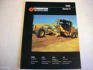 Champion 720A Series V Motor Graders Color Literature                         b2