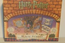 HARRY POTTER Magic Puzzles 3 Two-Sided Puzzles & 2 Charms by Bepuzzled 2000 NIB