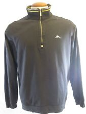 Tommy Bahama Mens Half Zip Sweater Size Large Black