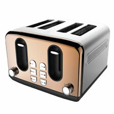 4 Slice Toaster Copper Effect Rose Gold 7 Heat Setting's Kitchen Slice Bread