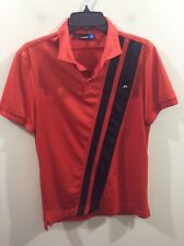 J Lindeberg Dri Performance Golf Shirt Red Regular Fit Small Excellent Shape