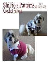 CROCHET PATTERN  for DOG COAT SAILOR IN 4 SIZES #247 by ShiFio's Patterns