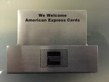 New American Express Business Card Holder Stainless Steel Credit Card