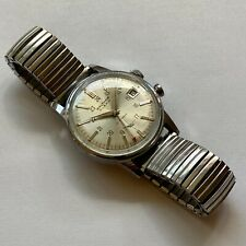Rare Vintage Waltham Alarm Wrist Watch Serviced W/ Vulcain Cricket 402