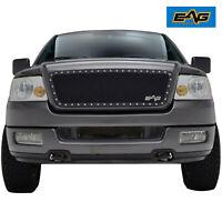 EAG Fits 2004-2008 Ford F150 Black Steel Mesh Rivet Grille Insert
