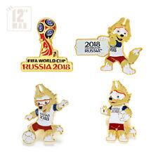 Set - 4 pins World Cup FIFA 2018 Russia football soccer souvenir Mascot Zabivaka