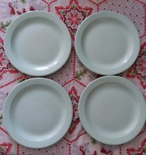 "Set Of 4 Vintage Boonton Melamine Plates Light Green 9"" Wear Marks On Plates"