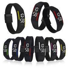 Men/Women Digital Rubber Waterproof LED Date Sport Silicone Bracelet Wrist Watch