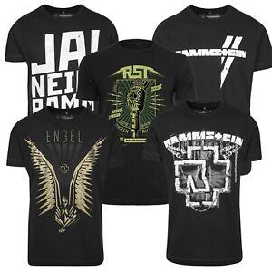 Merchcode Rammstein Men's T-Shirt Metal Band Shirt Engel Shirt Chains Logo Fan