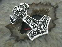 Ketten Anhänger THORS HAMMER Eisernes Kreuz EK Gothic Celtic 39,0gr. Silber 925