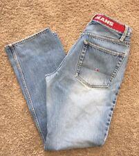 Vintage Mens Tommy Hilfiger Tommy Jeans Spell Out Denim Jeans SZ 32/34