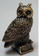Tiny Solid Bronze Owl by N.Fedosov.