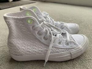 White Crochet Converse Size 3.5