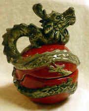 New listing Dragon Red Salt & Pepper Shakers Blue Sky Heather Goldminc - New