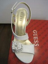 Guess white leather woman shoes - SIZE 8