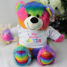 Big Sister Rainbow Teddy Bear - Personalised - Add a Name & Message