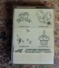 Stampin Up Cupcake Birthday 1994  Rubber Stamps New NIP Unmounted  Free Shipping
