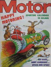 Motor magazine 25/12/1982 featuring Suzuki road test, Mercedes 300SL Gullwing