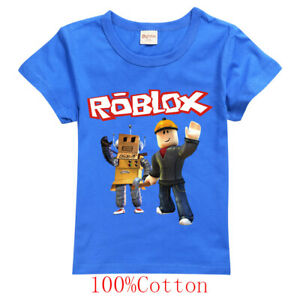 Boys Girls Kids ROBLOX Cotton Short Sleeve Shirts Tops T-Shirts Tee Clothes