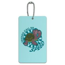 Turtle Friends Call Me Speed The Swan Princess Luggage Card Carry-On ID Tag