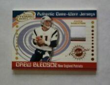 2001 Prism Atomic Drew Bledsoe New England Patriots Washington St. 3 Color Patch