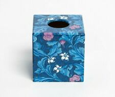Blue Leicester Tissue Box Cover cube wooden handmade decoupaged