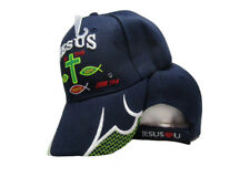 Jesus Is The Way Life Truth Christ Christian Dark Navy Blue Embroidered Cap Hat