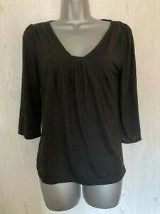 TWO LADIES BLACK POLYESTER/VISCOSE TOPS BY GEORGE - SIZE 12