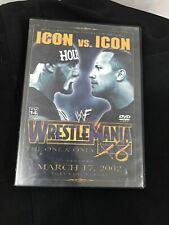 WWE/WWF Wrestle Mania X8 18 Icon 2002 Hulk Hogan XVIII (DVD w/Poster) Wrestling