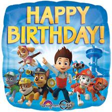 "Paw Patrol 18"" Nickelodeon Foil Mylar Blue Happy Birthday Party Decoration"