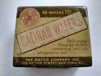 Vintage Pharmaceutical Medicine Tin Calirad Wafers Bayer