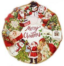 Rotondo in Legno da Appendere tradizionale Buon Natale Conto Alla Rovescia la placca Decorazione