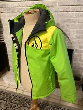 Volcom Boys Jacket Ski Snowboard Youth Large  Neon Green Excellent Condition