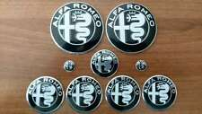 FULL Set of 9pcs Alfa Romeo BLACK DESIGN GIULIA emblem badge logo insignia