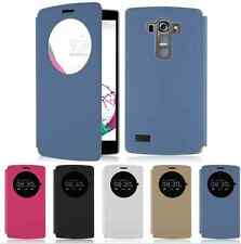 New Quick Circle Flip Leather Case Battery Cover Skin For LG G3 D850 D855 G4