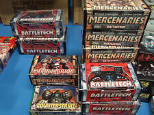 14 Battletech Empty booster and display boxes Mercenaries Counterstrike etc. lot