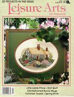 Leisure Arts The Magazine 20 Counted Cross Stitch Patterns Magazine April 1992