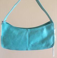 NWT Women's Hobo International Leather Baguette Shoulder Bag Purse Violette Aqua