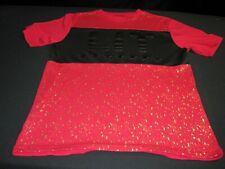 BROOKLYN LAUNDRY Gold LIT Men's Short Sleeve Red Crewneck Shirt Sz- Small~6940