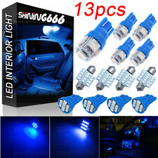 13pack LED Light Interior Package Kit for T10 & 31mm Map Dome License Plate Blue
