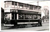 Original real photograph Tram Birmingham 569 tramcar vintage circa 1940