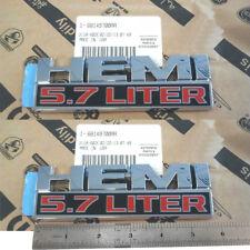 2x OEM Chrome 5.7 LITER HEMI Emblems 3D Badge for Dodge Ram 1500 F1 68247898AA