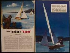 15' Racing Ice Boat Scoot 1949 How-To build PLANS 80mph