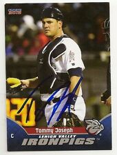 Tommy Joseph 2015 Lehigh Valley IronPigs Signed Card