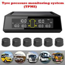 Universal Car Wireless TPMS Tire Pressure Monitor System+6 Sensors LCD Display
