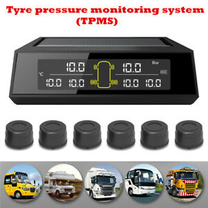 Universal Car Wireless TPMS Tire Pressure Monitor System+6 Sensors LCD Display