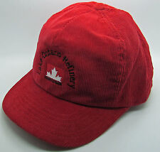 Petro Canada Lake Ontario Refinery Trucker Hat Baseball Cap Red Corduroy Oil